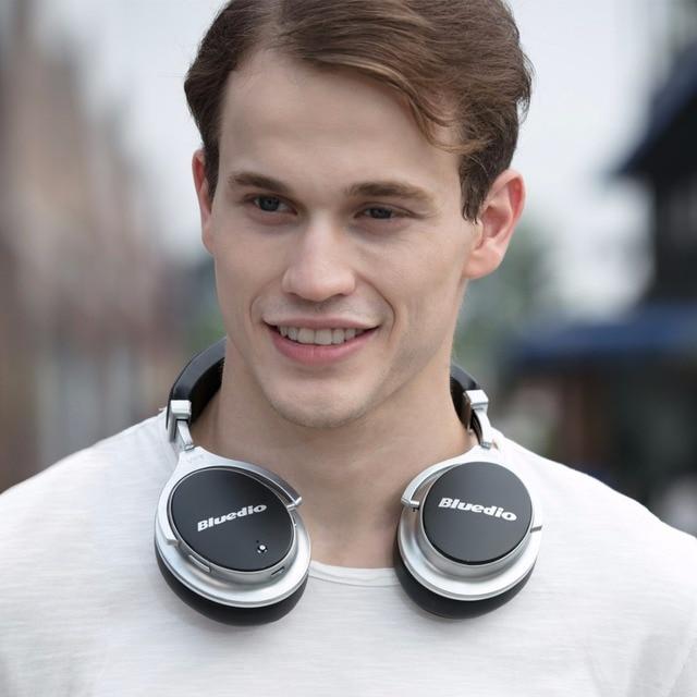 Bluedio F2 Активное Шумаподавление Беспроводные Bluetooth наушники Junior ANC функция и гарнитура с возращающихся ушами (черный и белый)