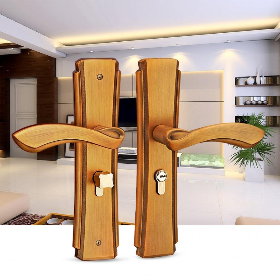 Zinc Alloy Door Handle Lock Set Home Security Indoor Lever Latch door handle lock serrure de porte