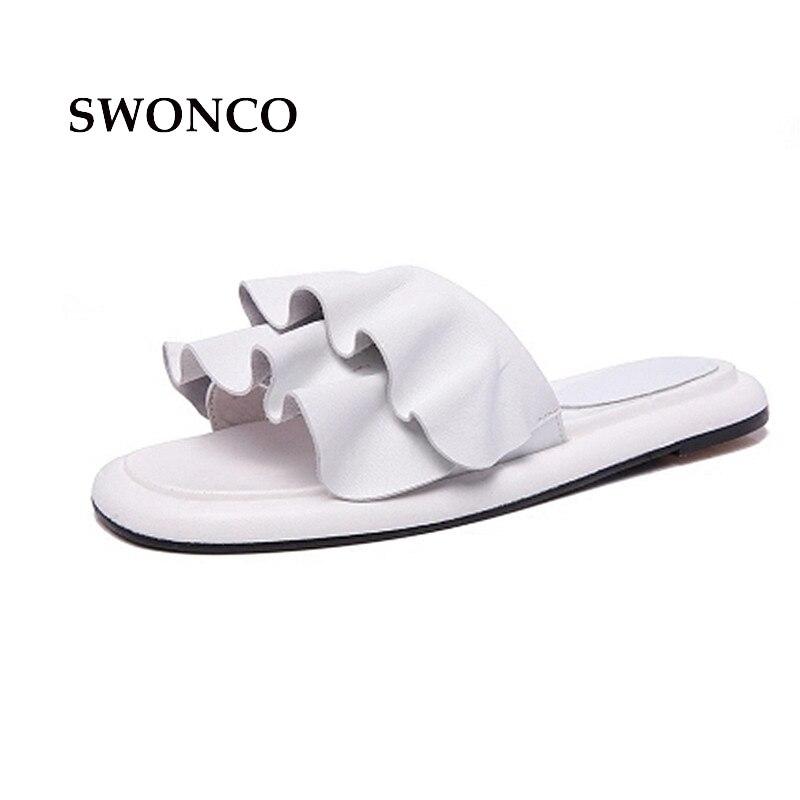 ✅Swonco zapatos de los deslizadores de las mujeres 2018 verano moda ...