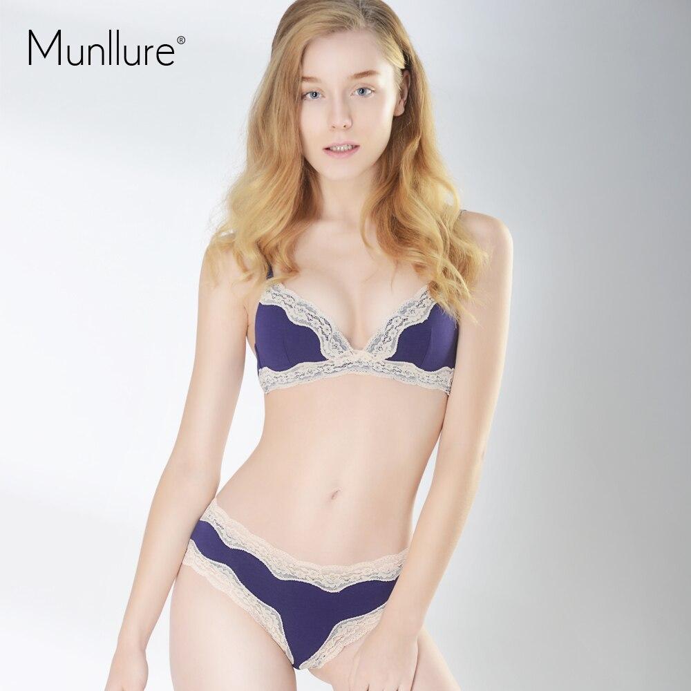 Munllure Sexy Triangle Cup Slim Lace Underwear Women ...