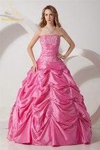 Bealegantom Elegant Ball Gowns Quinceanera Dresses Beaded Appliques Rhinestones Sweet 16 Dresses Vestidos De 15 Anos QA1125