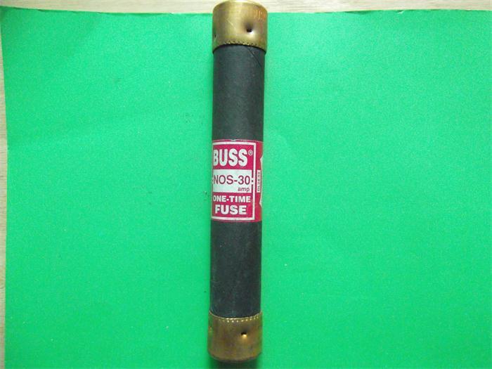 NOS-30 ONE TIME fuse fuse 21X127 BUSS genuine 30A600VNOS-30 ONE TIME fuse fuse 21X127 BUSS genuine 30A600V
