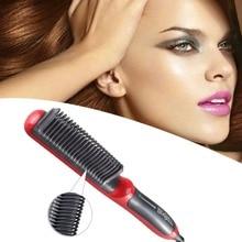 Электрический Выпрямитель для волос прямые волосы расческой ЖК-дисплей с подогревом Керамика расческа для выпрямления волос, щетка для укладки волос вилка европейского стандарта, Лидер продаж
