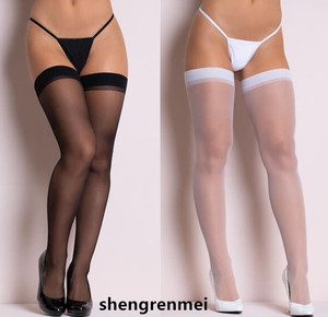 Shengrenmei 2019 Women Rib Top Cuff Sexy Stockings Transparent Silk Stocking Ladies Thigh High White Stockings Medias De Mujer