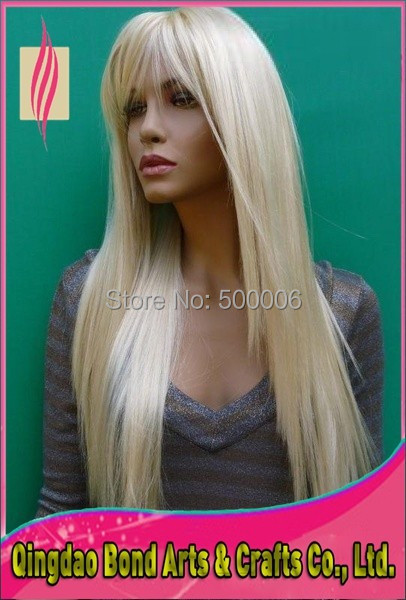 Free shipping full lace human hair wigs white
