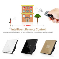 FUNRY ST2 1 EU Intelligent Crystal Glass Panel Smart Remote Control Touch Switch Waterproof Shiny Panel