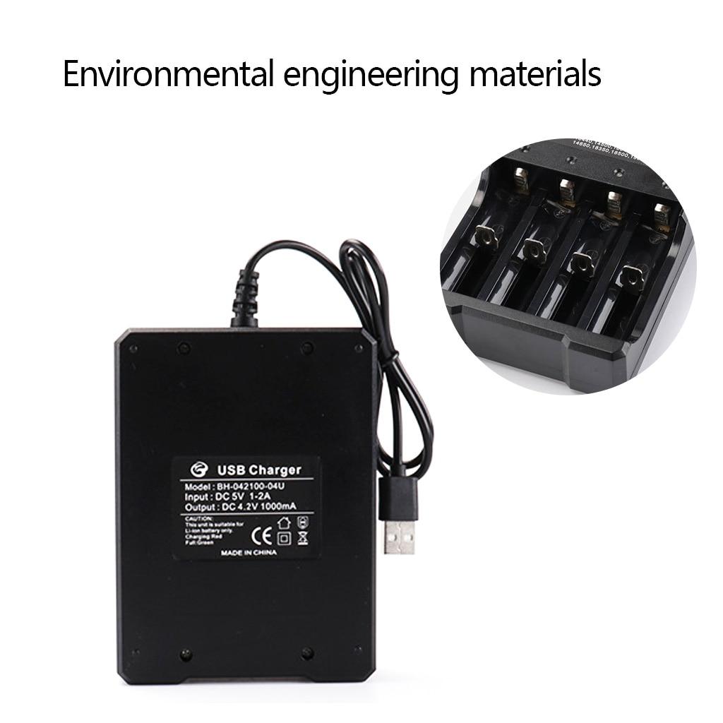 Image 2 - DC 4.2V/1A 18650 USB Charger 4 slot Li ion Battery USB Charger Adapter for Battery 18350 16340 18500 26650 18650 14500-in Chargers from Consumer Electronics