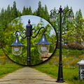 Наружная античная декоративная литая алюминиевая садовая лампа для сада  тропинка