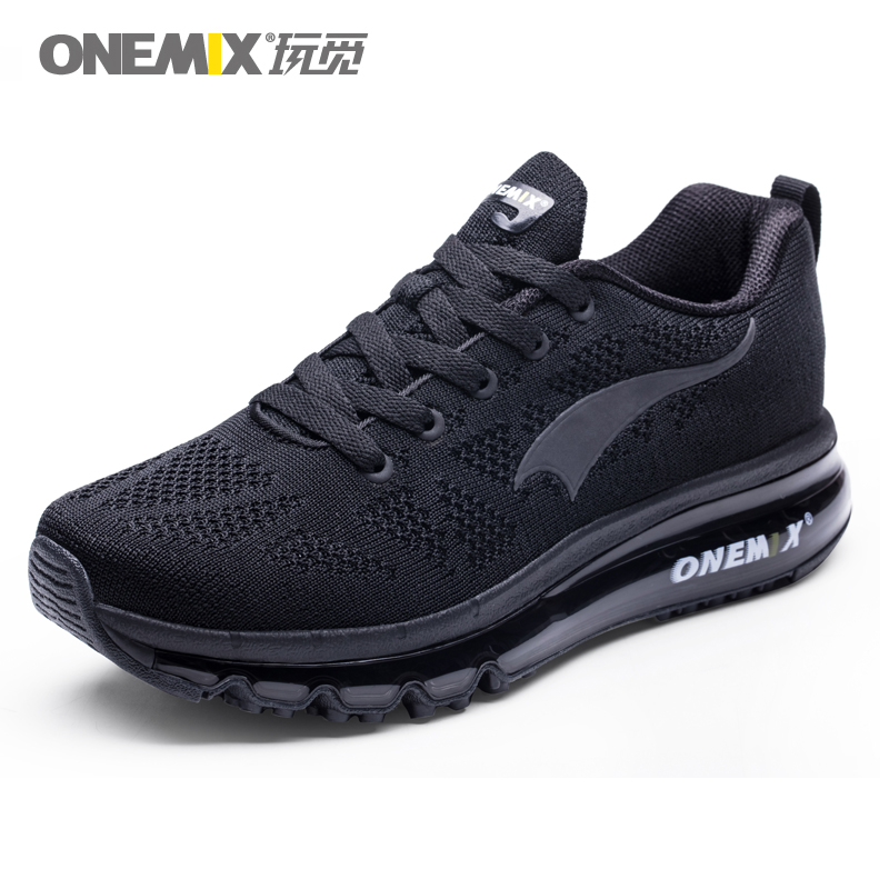 ONEMIX Men Running Shoes Women Air-Knit Sneakers Light Outdoor Sport Shoes Air Cushion Althletic Shoes 2019 Newest
