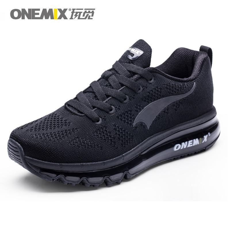 ONEMIX Men Running Shoes Women Air Knit Sneakers Light Outdoor Sport Shoes Air Cushion Althletic Shoes 2019 Newest-in Running Shoes from Sports & Entertainment on AliExpress