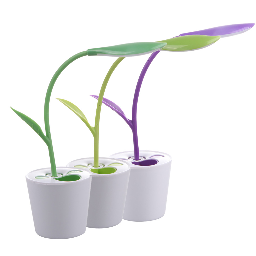 Комнатных растений Форма USB LED ночник ультра яркий мини USB настольные лампы для чтения книги света для Тетрадь Desktop портативных ПК