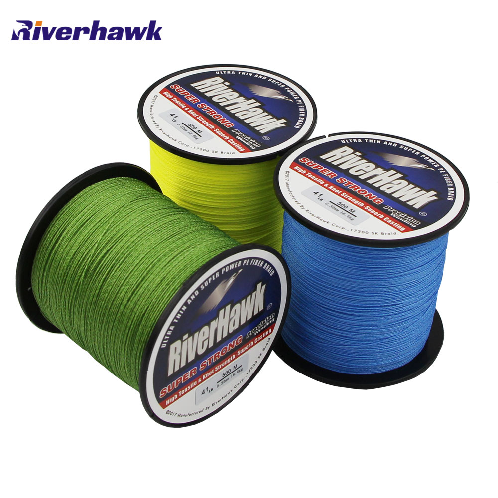 Riverhawk brand superpower 500m 12lb 80lb braided fishing for 20 lb braided fishing line
