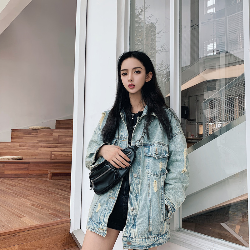 HTB1NyhsbMaH3KVjSZFjq6AFWpXal RUGOD 2019 New Autumn Funny Cartoon Print Long Denim Jacket Women Vintage Streetwear Punk Style Jean Jacket casaco feminino