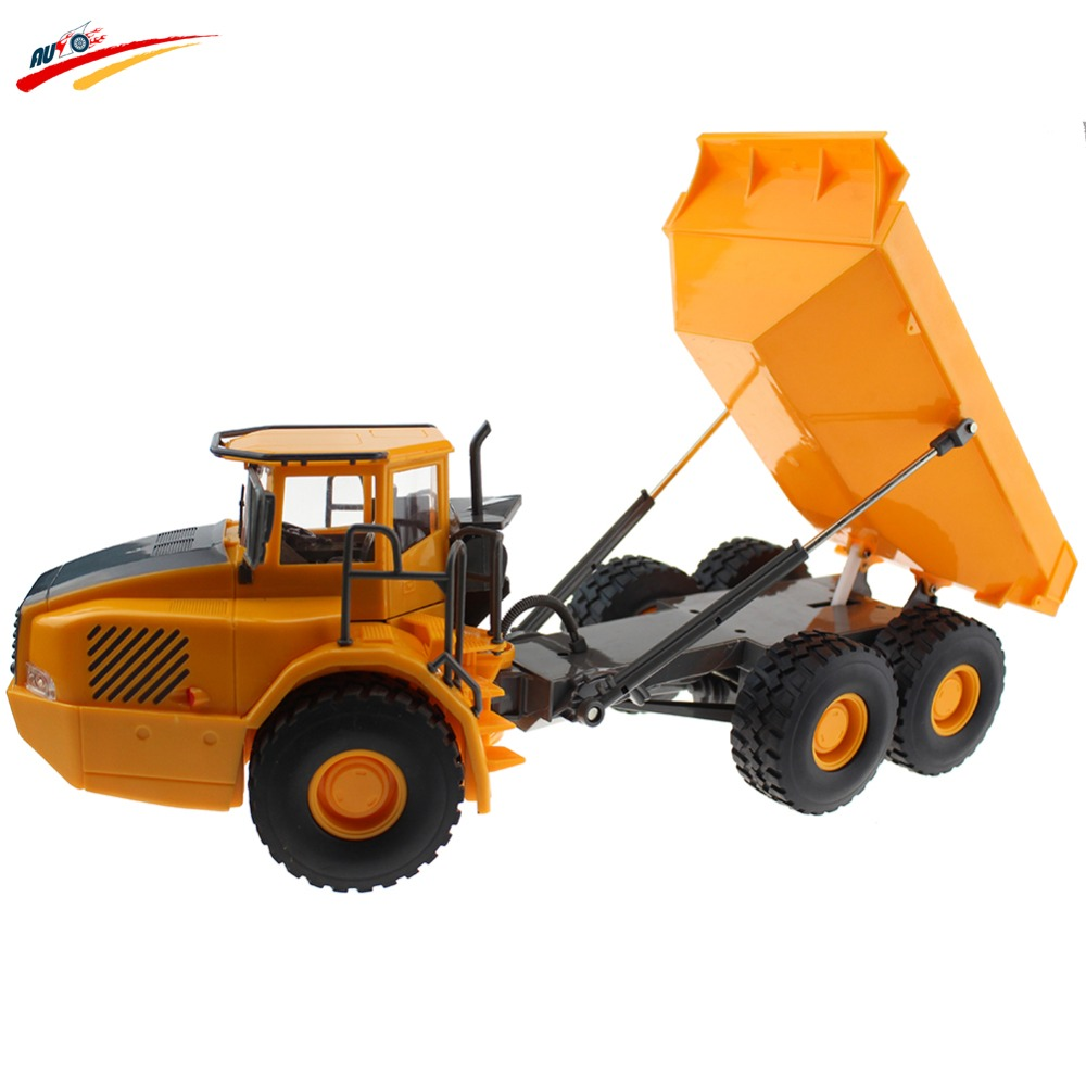 RC Truck 6CH Remote Control Project Tilting Cart Big Dump Truck Engineering Vehicles Loaded San Carrier
