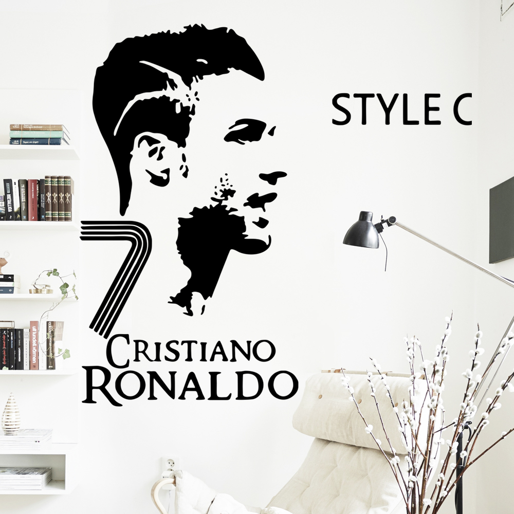 Atfipan real madrid football star c ronaldo wall sticker for bedroom modern diy wall pictures home decoration