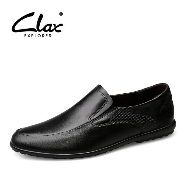 Clax Men Black Dress Shoe Spring Summer Male Social Shoe Genuine