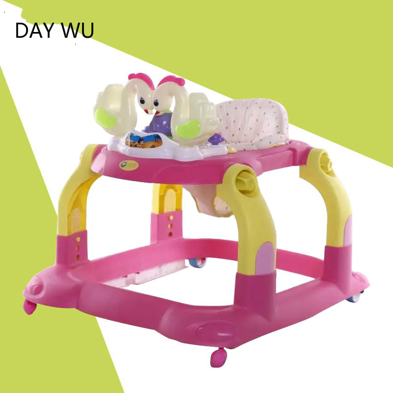 Baby walkers 6 / children 7-18 months baby walker multifunction anti-rollover brake Musical Toys
