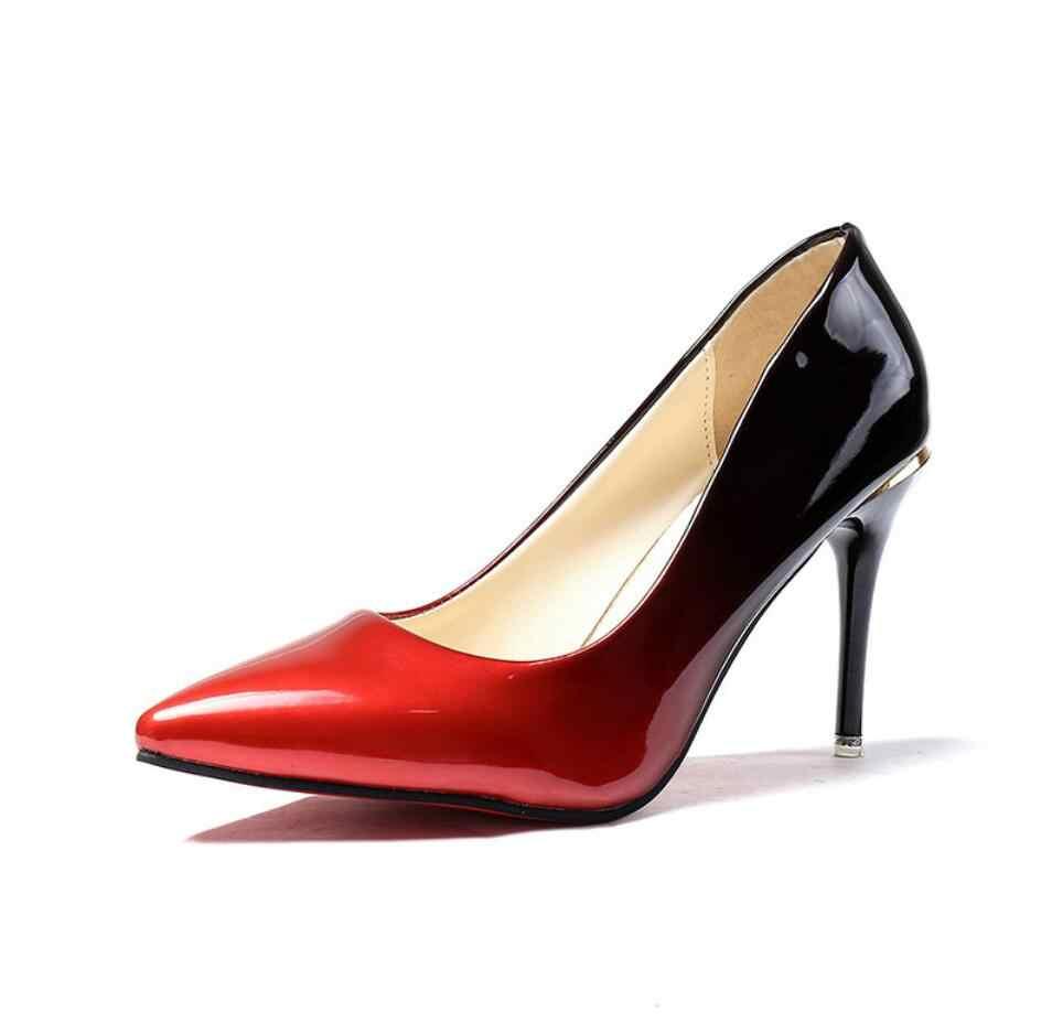 0cbbdf809d 2019 Fashion designer high heels women pumps thin heel classic nede prom  wedding shoes bridal shoes escarpins sexy hauts talons
