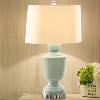 Free Shipping Modern American Ceramic Table Lamp Creative Fashion Living Room European Style Table Lamp Study