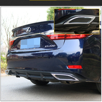 For LEXUS ES250 Rear 2016 spoiler ABS Plastic Rear Diffuser Bumper Trunk Protector Cover Car Styling
