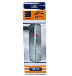 Image 5 - 10 Uds placa 830 punto PCB Junta MB 102 MB102 desarrollo de test, kit de bricolaje, nodemcu raspberri pi 2 lcd de alta frecuencia