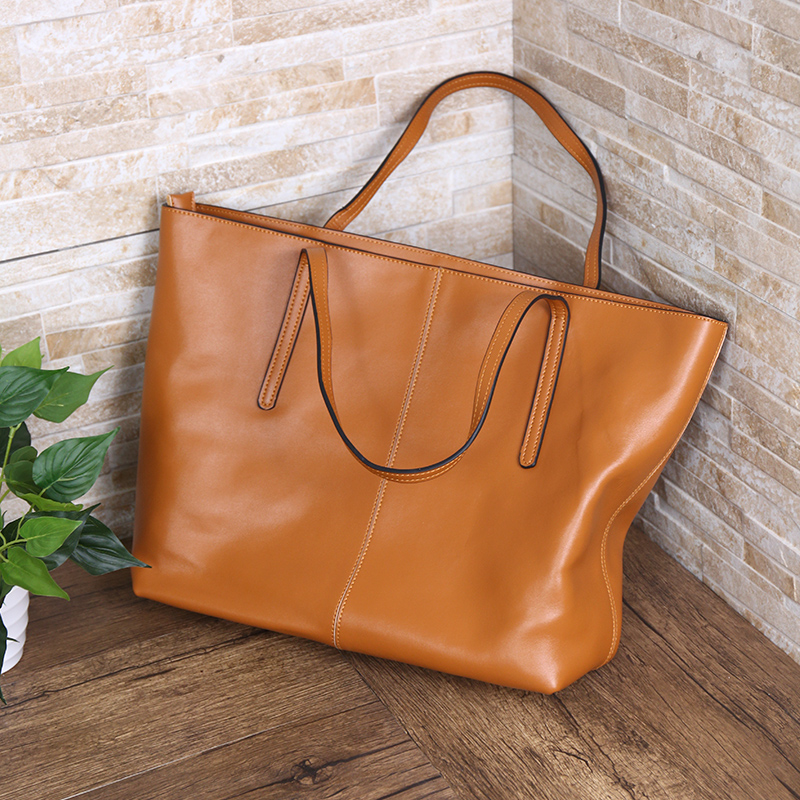 Vintage Genuine Leather Big Casual Totes Lady Fashion Shoulder Bags Women Big Handbag Mummy Packs Top Handle Bag Large Capacity