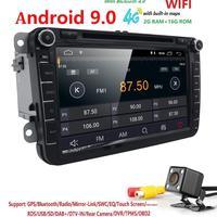 In stock Android 9.0 Car DVD radio for V W Volkswagen SKODA GOLF 5 Golf 6 POLO PASSAT B7 T5 CC JETT A TIGUAN DAB+ TPMS RDS OBD2