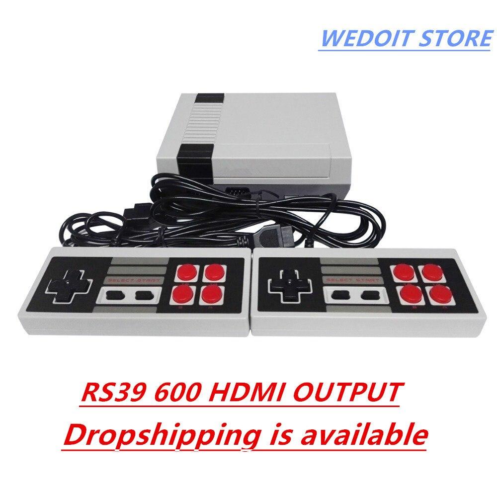 Wedoi HDMI Mini игровой консоли Ретро ТВ ручной игровая консоль для 8b игры встроенный 600 различных игр с HDMI Выход PAL и NTSC