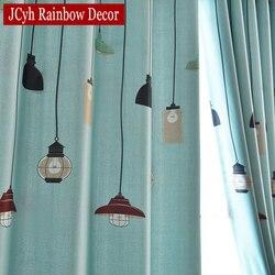 Nowoczesna lampa okno zasłona zaciemniająca do salonu niebieska sypialnia zasłony dla dzieci zasłony dla dzieci Tende Rideau Enfant Cortina