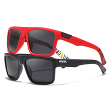 KDEAM Straight Topline Rectangle Polarized Sunglasses Men Brands Signature Sun Glasses Sport Shades Includes Protective Case