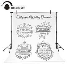 Allenjoy Wedding Backdrops Business Floral Design Nature Template Photography Art Logos Layout Wreath Elegant Natural Background(China)