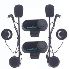 2pcs 2016 Updated Version Original BT Bluetooth Motorcycle Helmet Intercom Interphone Headset Communicator with FM Radio