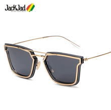 JackJad 2017 New Fashion Ultralight Square Metal Frame Cool Sunglasses Men Women Brand Design Quality Sun Glasses Oculos De Sol