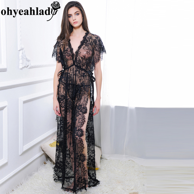 Aliexpress.com : Buy R80262 Ohyeahlady Long gown lingerie New Solid ...