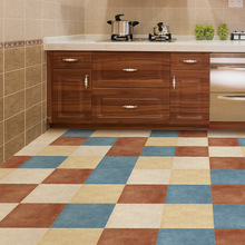 Solid Color Tiles Anti-skid Wear-resistant Waterproof Floor To Paste The Living Room Kitchen Home Decor Wall Floor Mat Stickers