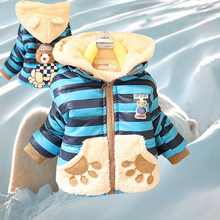 Children wear Cartoon Bear Baby Boy jacket winter warm cotton coat children's clothing casual jackets hoodies 1-4y hot sale2017 children girls baby cute ears quilted cotton baby clothes winter girl coat clothing fashion hot sale warm boy jacket