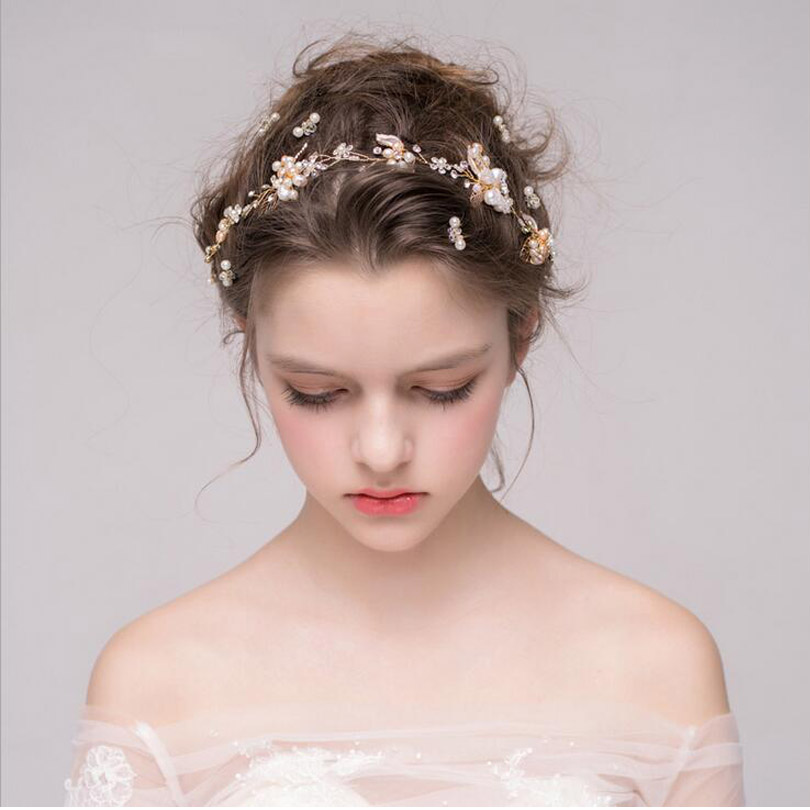 Wedding Hair Comb Bridesmaid Bridal Headpiece Rhinestone Hairpiece Hair Accessory 55S Pearl and Rhinestone