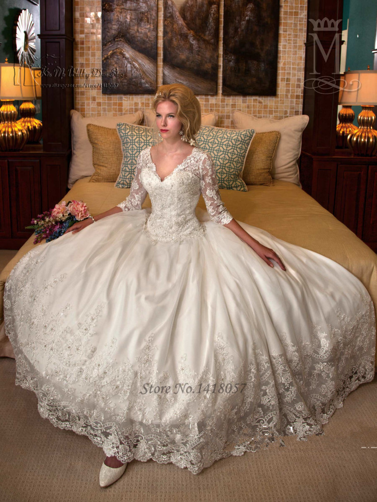 Aliexpress.com : Buy Modest Winter Luxury Wedding Dresses 2016 ...