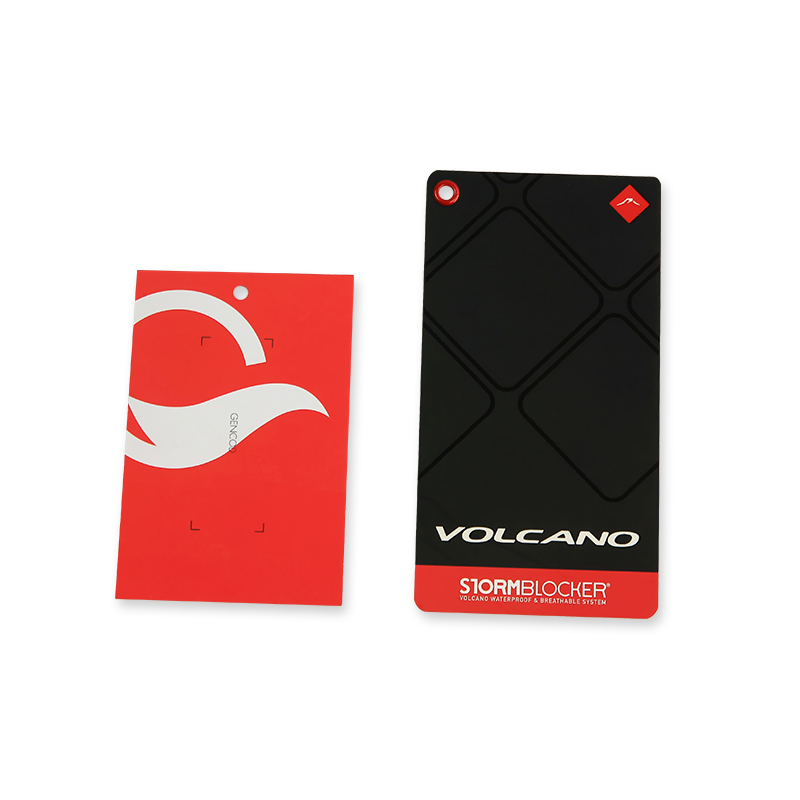 Zuoluo Custom Glossy Surface Paper Hang Tags For Clothing