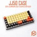 Чехол из анодированного алюминия для клавиатуры jj50  50%  акриловые панели  акриловый диффузор jj40  Поддержка вращающегося банкета для preonic