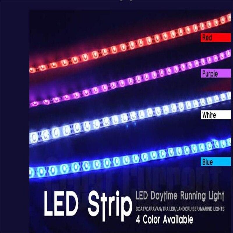"Boat Led Strip Lights Glue: 6x 60CM 24"" 36SMD 3528/1210 Adhesive Waterproof LED Strip"