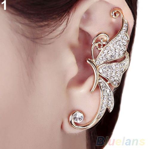 Shiny Erfly Wings Shape Left Ear Cuff Womens Clip Clamp Earrings 1pc 4tpj In From Jewelry Accessories On Aliexpress Alibaba Group