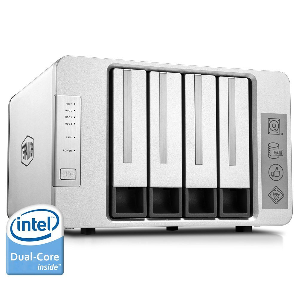 Terramaster NAS сети хранения 4 отсека сервер Nas Intel Dual Core 2,41 ГГц Nas серуэр Поддержка RAID 0 RAID 1 RAID5 (DISKLESS)