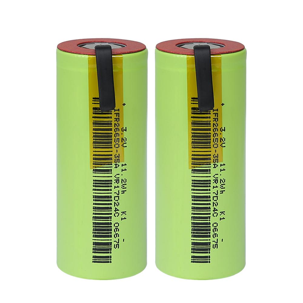IFR 26650 35A LiFePo4 3500mAh 3.2V rechargeable battery 10 rate discharge with suitable +DIY Nickel sheets for E cigarette-in Replacement Batteries from Consumer Electronics on AliExpress - 11.11_Double 11_Singles' Day 1