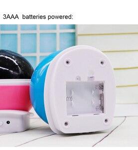 Image 2 - RGB LED الإسقاط يونيكورن مصباح USB 5 فولت بطارية تعمل بالطاقة ضوء الليل الأطفال الطفل هدية النوم ضوء غرفة نوم السرير الجدول مصباح