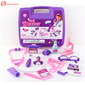 High quality Cute role play doctor toys pretended doctor nurse medical carry case medical kit educational Kids Classic toys