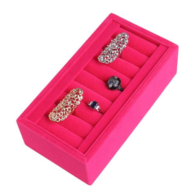 Jewelry Box Velvet Ring Insert Jewelry Display Tray Organizer Holder