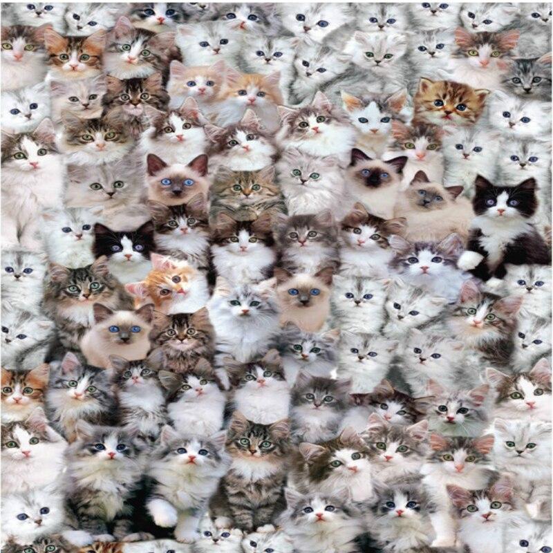 1000 шт. милые Товары для кошек головоломки Новое прибытие океан диких животных Cat образования детей Паззлы игрушка Рождественский подарок