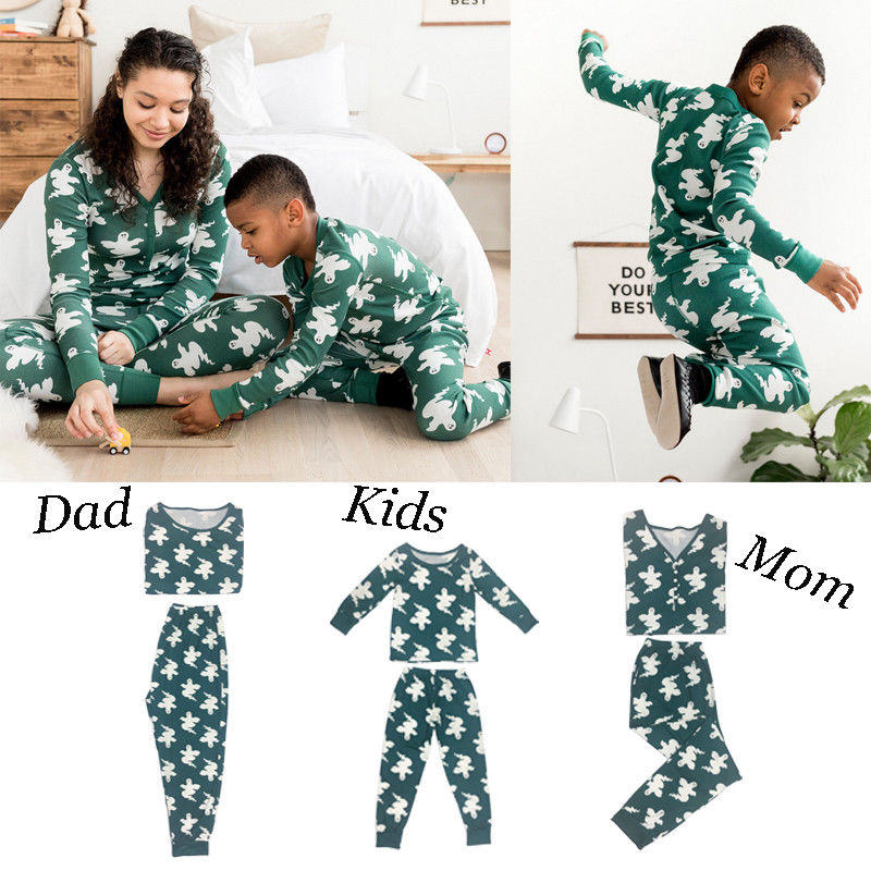 2018 Model Household Christmas Pajamas New Yr Mom Daughter Outfits Household Matching Garments Sleepwear Pajama Set Household Look