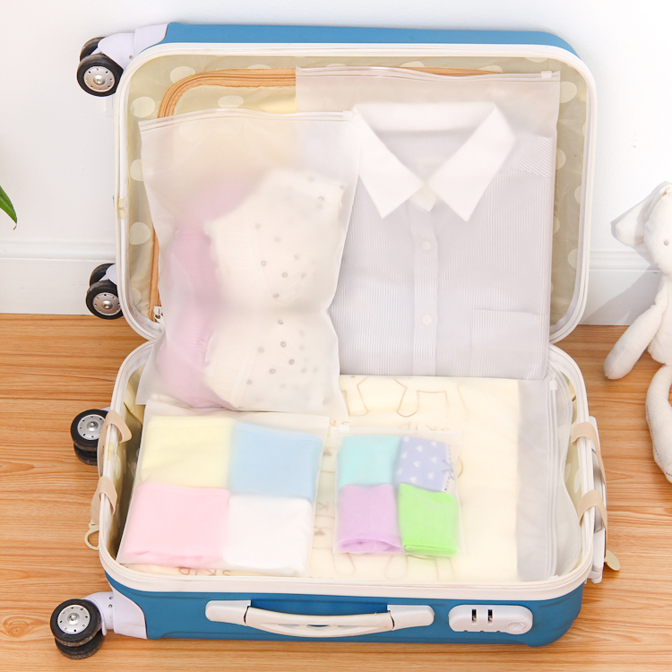 Creative Travelling Plastic Dust Proof Bag Mobile Phone Waterproof Sealed Bins Underwear Storage Boxes 5 Size Hot Sale 689